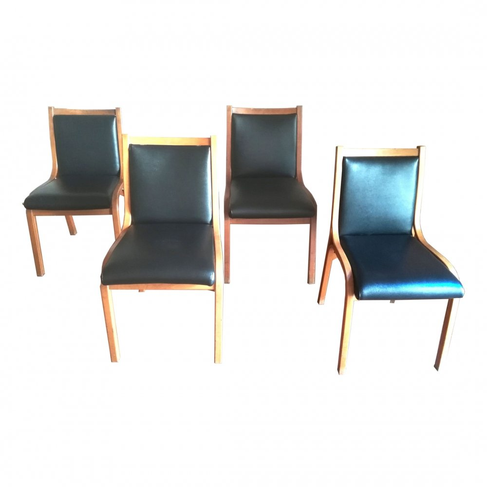 Set of 4 Cavour chairs by V. Gregotti, L. Meneghetti, G. Stoppino, 1960