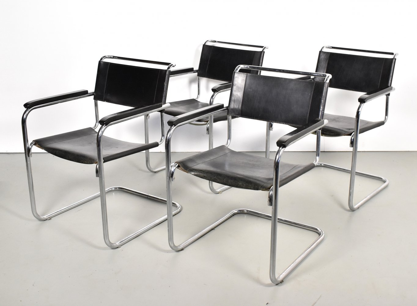 Set of 4 S34 dining chairs by Mart Stam for Thonet, 1960s