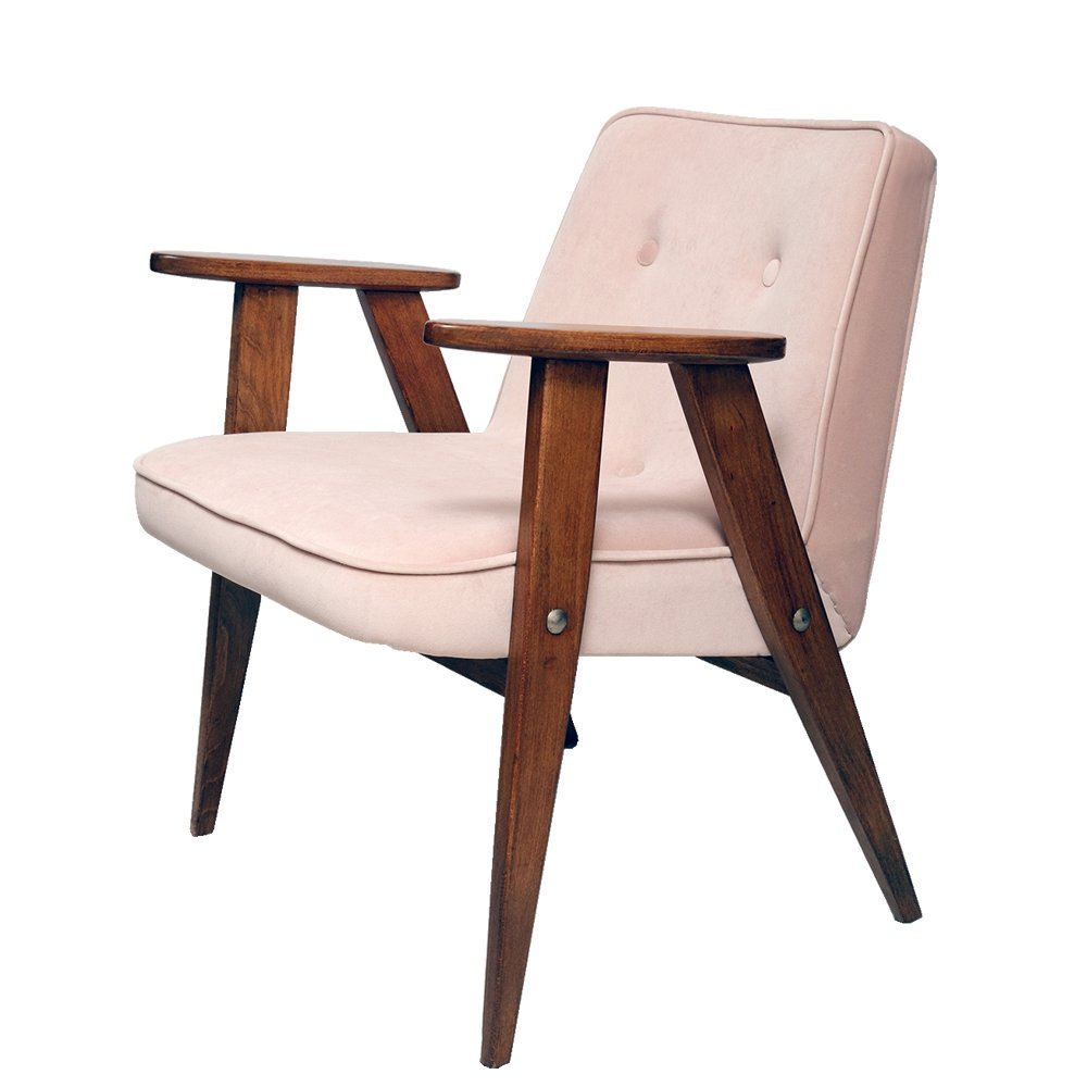 Pink TYP 366 arm chair by Jozef Marian Chierowski, Poland 1960s