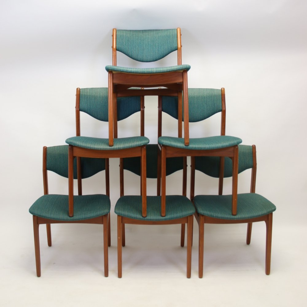 Set of 6 Danish dining chairs by Store Heddings, 1960s