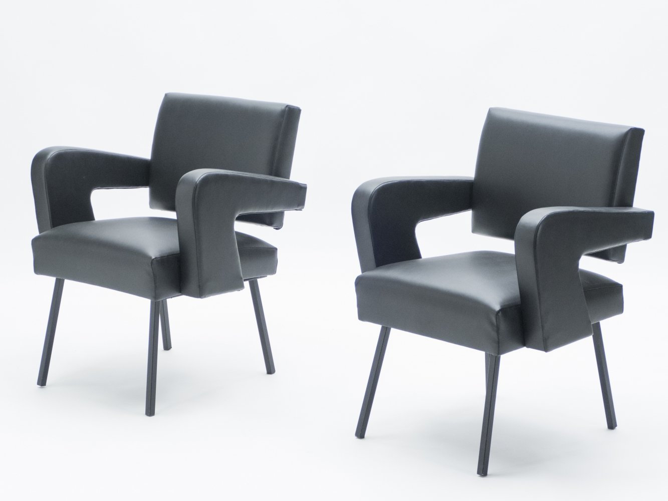 Pair of Jacques Adnet