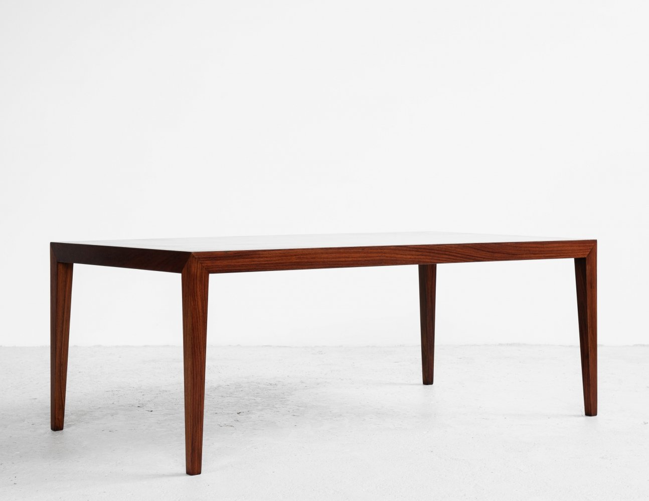 Midcentury Danish coffee table in rosewood by Severin Hansen for Haslev