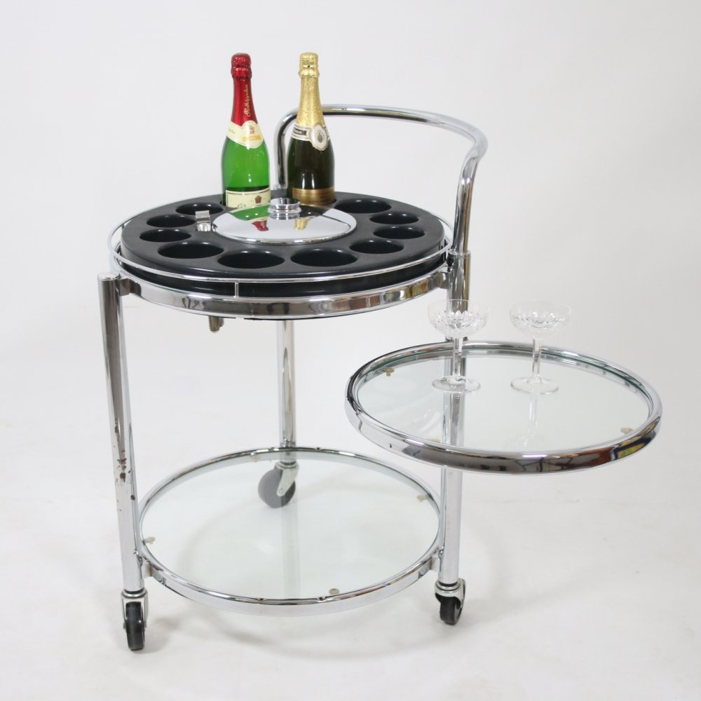 Space age Drinks trolley with bar platform