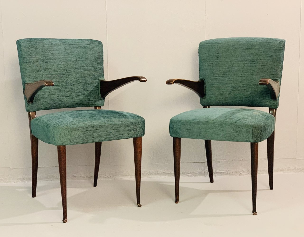 Pair of Italian Armchairs by Guglielmo Ulrich, 1950s