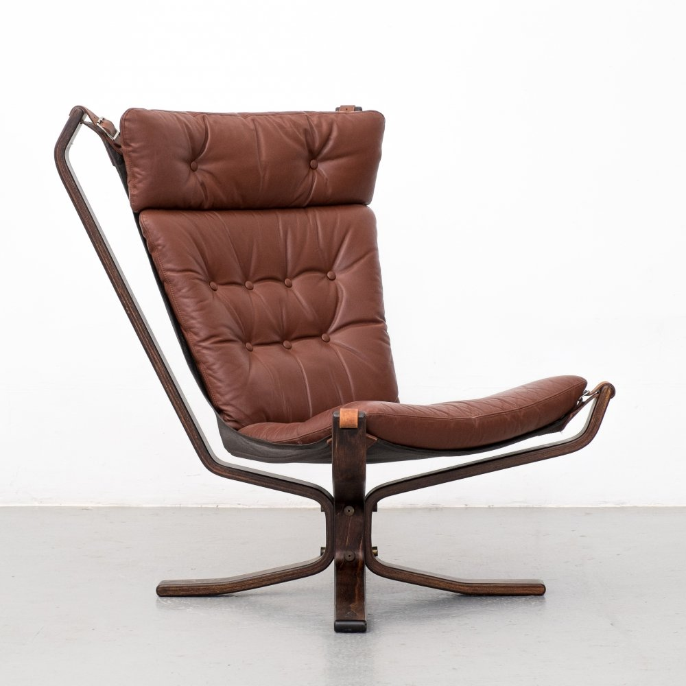 Danish leather Superstar high lounge chair, 1970s