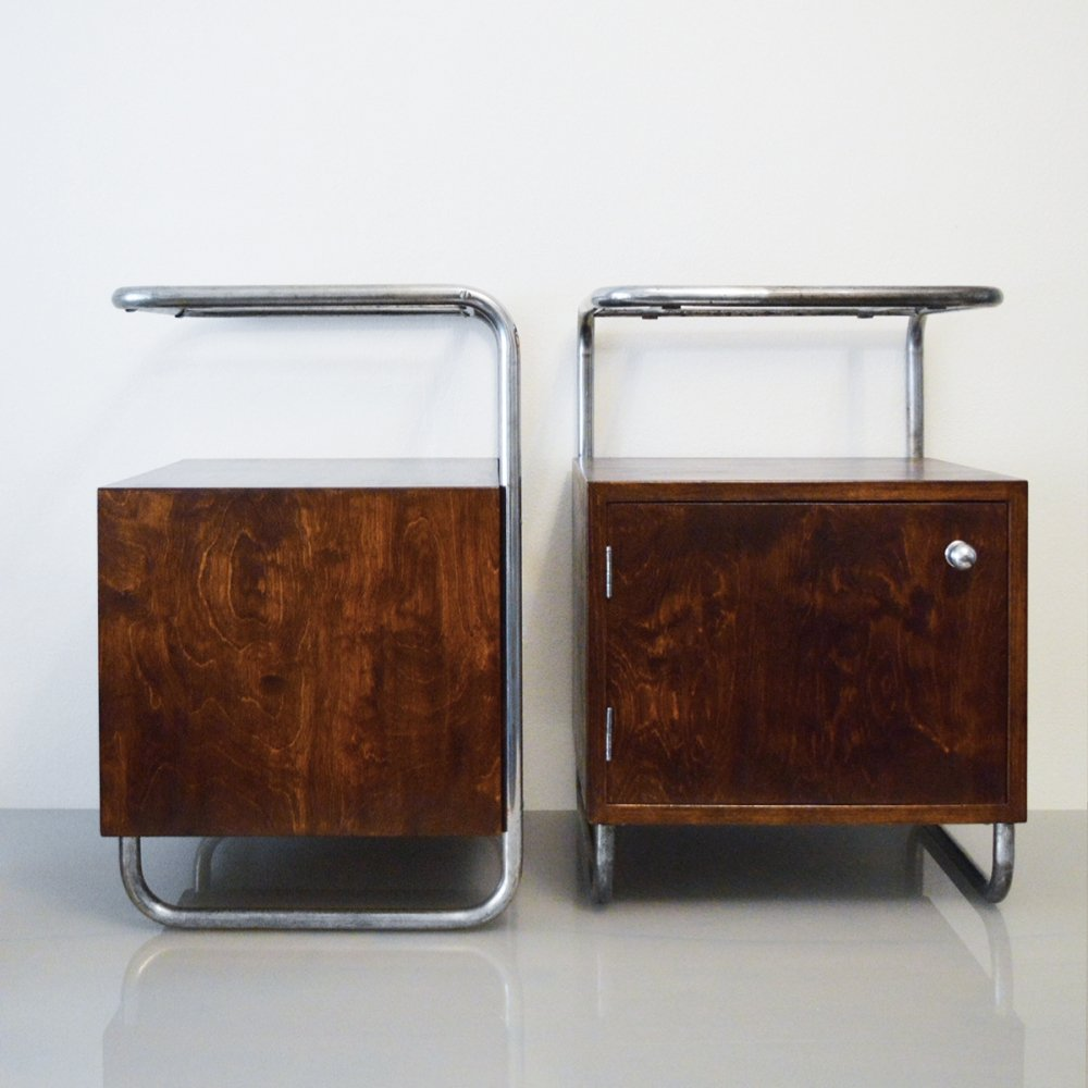 Pair of Night stands by Rudolf Vichr, 1930