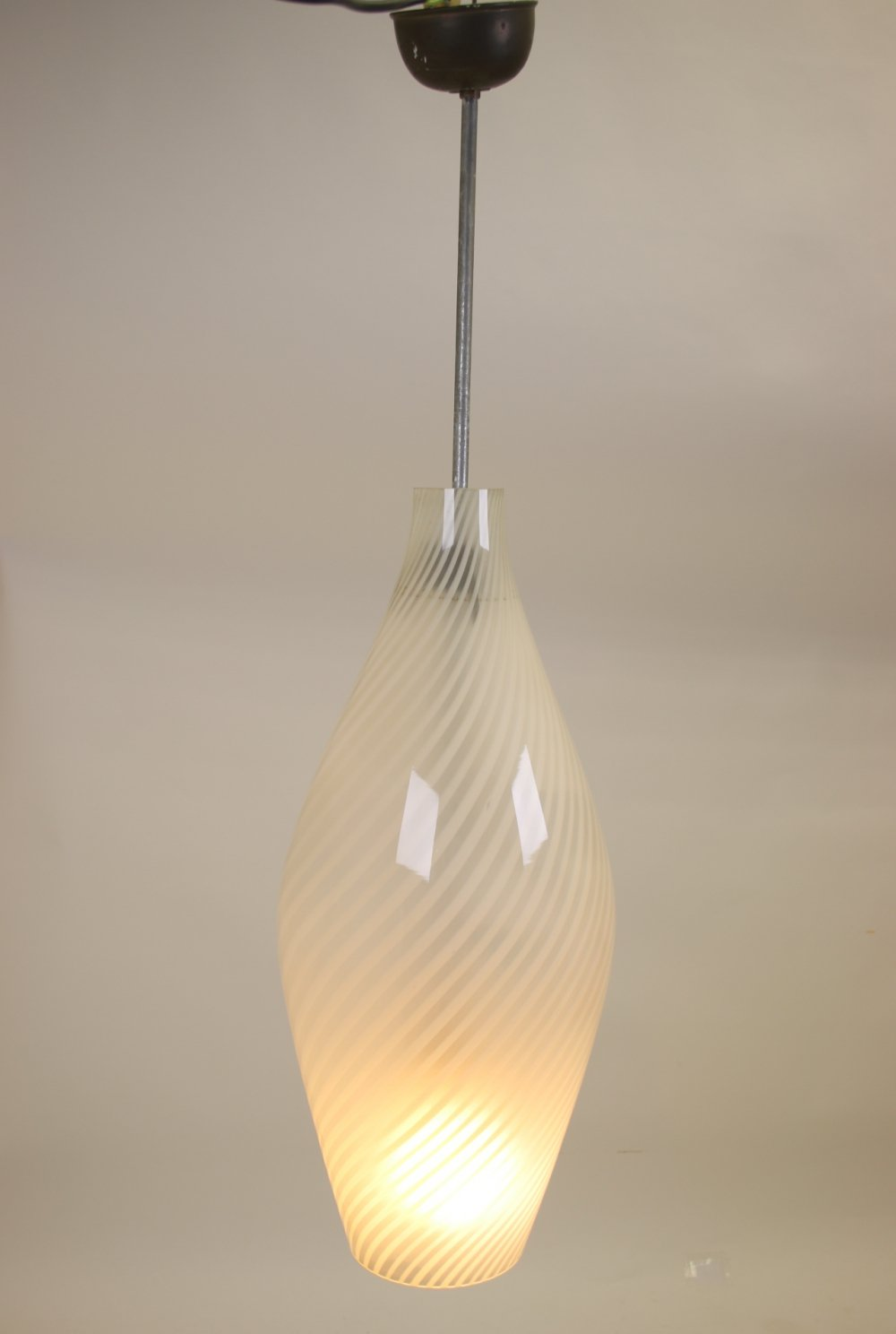 Murano glass spinning top pendant lamp, Italy 1960s