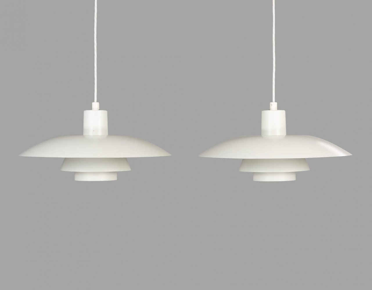 Pair of white PH 4/3 lamps by Poul Henningsen for Louis Poulsen, 1960s