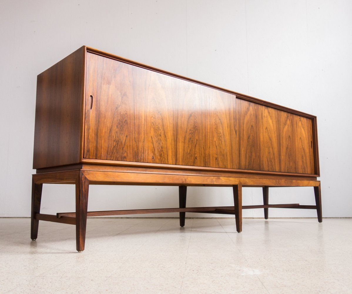 Rosewood sideboard by Severin Hansen by Haslev Møbelsnedkeri, 1960s