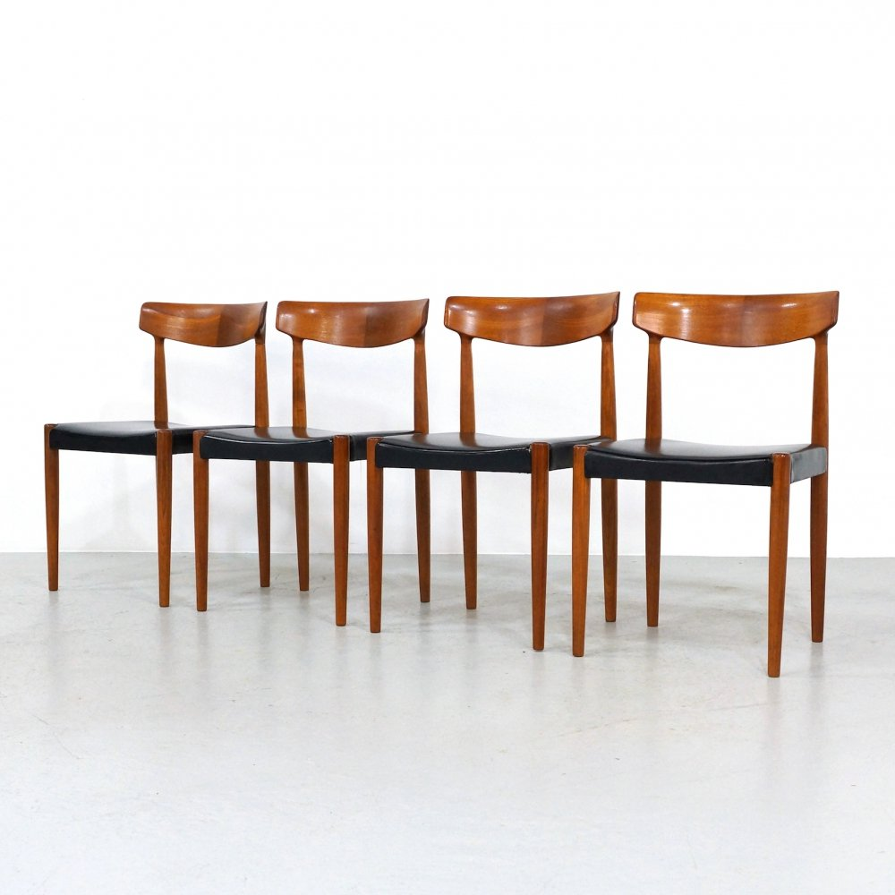 Set of 4 model 343 dining chairs by Knud Faerch for Bovenkamp, 1960s