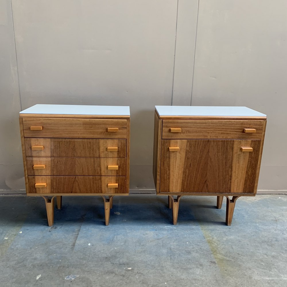 Pair of Nightstands by Frantisek Mezulanik for Novy Domov, 1970