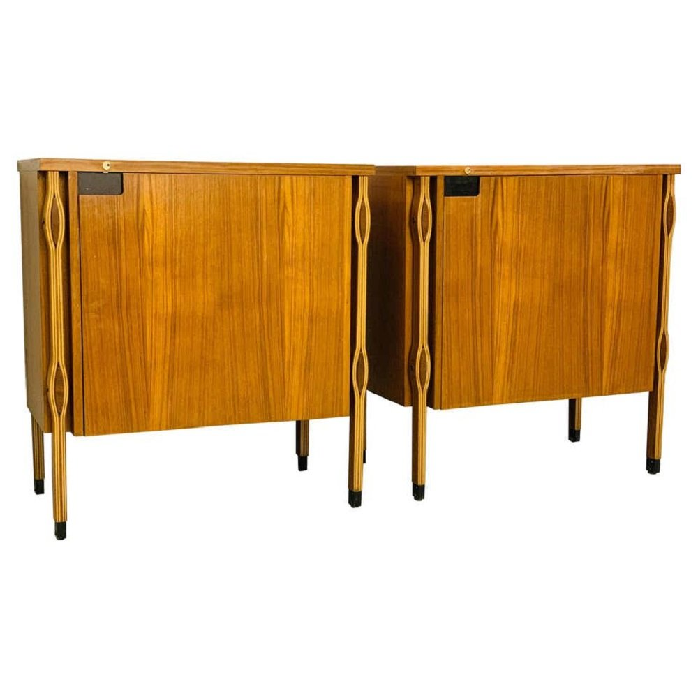 Pair of Small Storage Units by Ico Parisi, Italy 1950s
