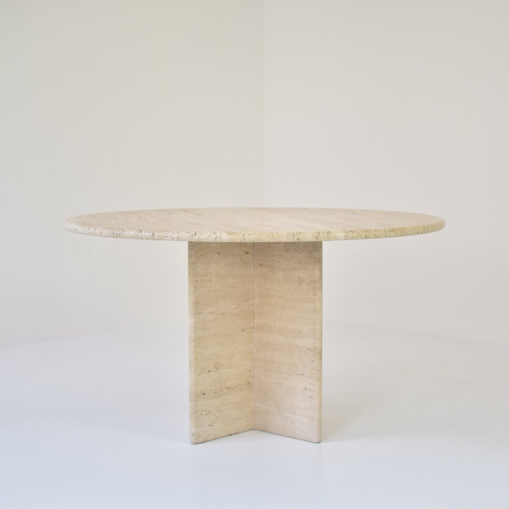 Travertine dining table, Italy 1960