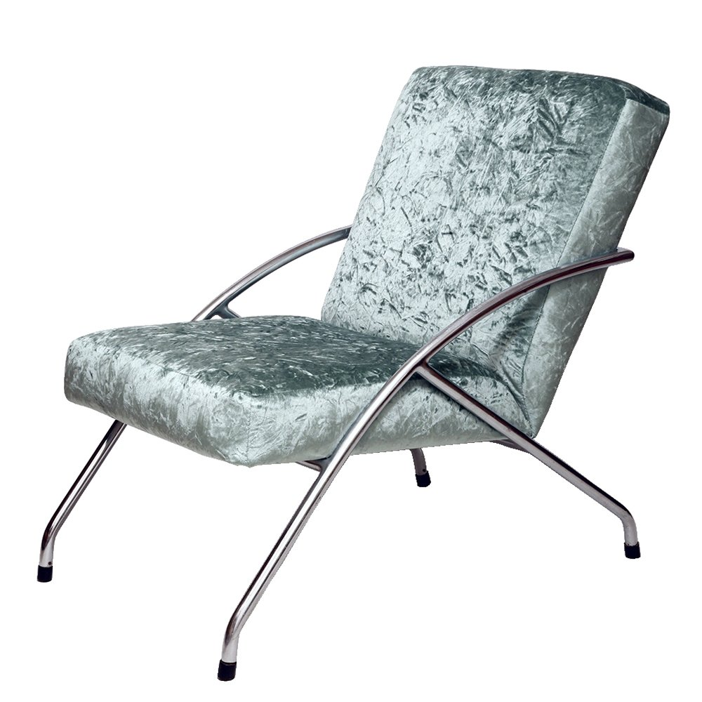 Mint Bauhaus armchair by Steel Furniture Factory in Zadziele, Poland 1960s