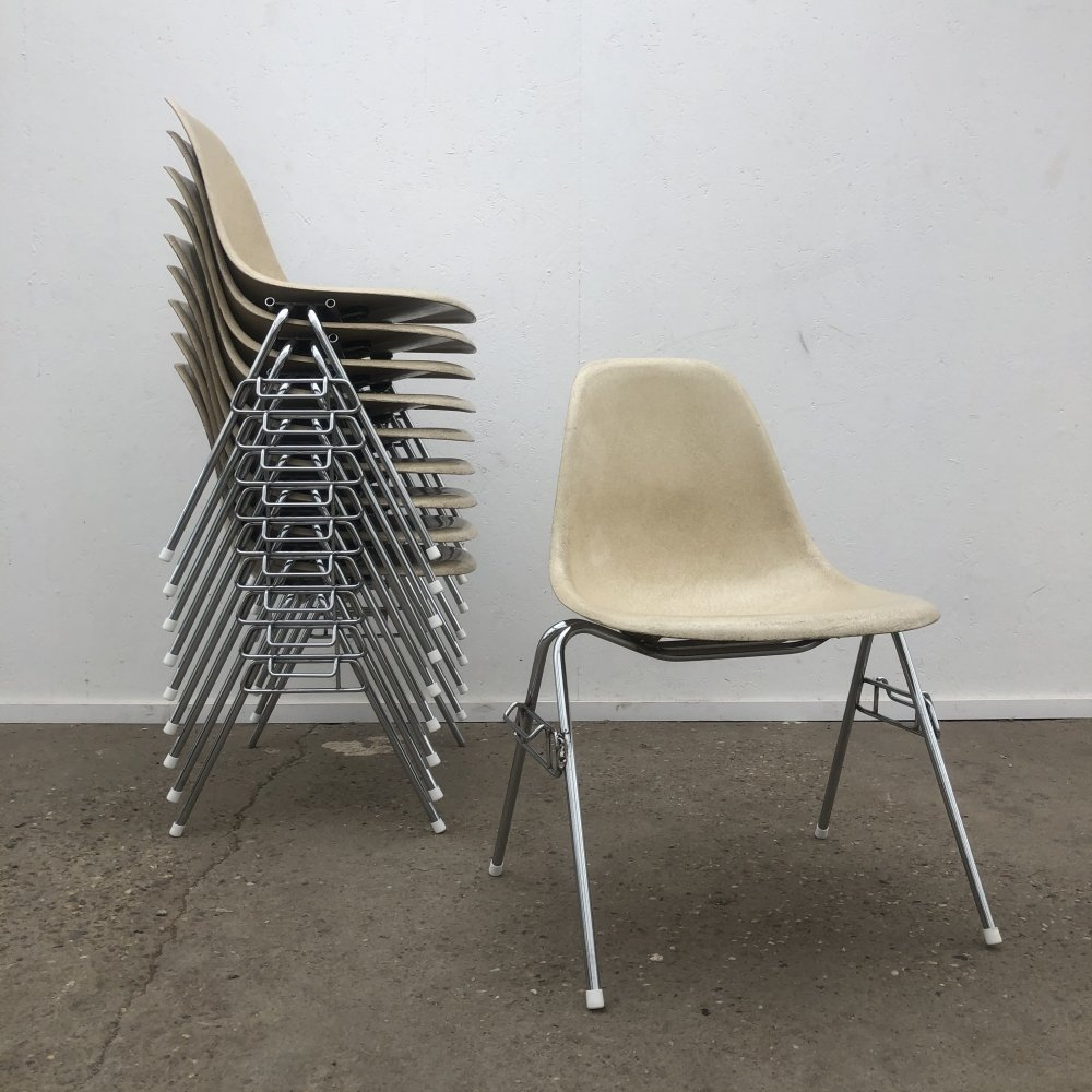 Set of 10 Eames DSS chairs by Herman Miller, 1960s