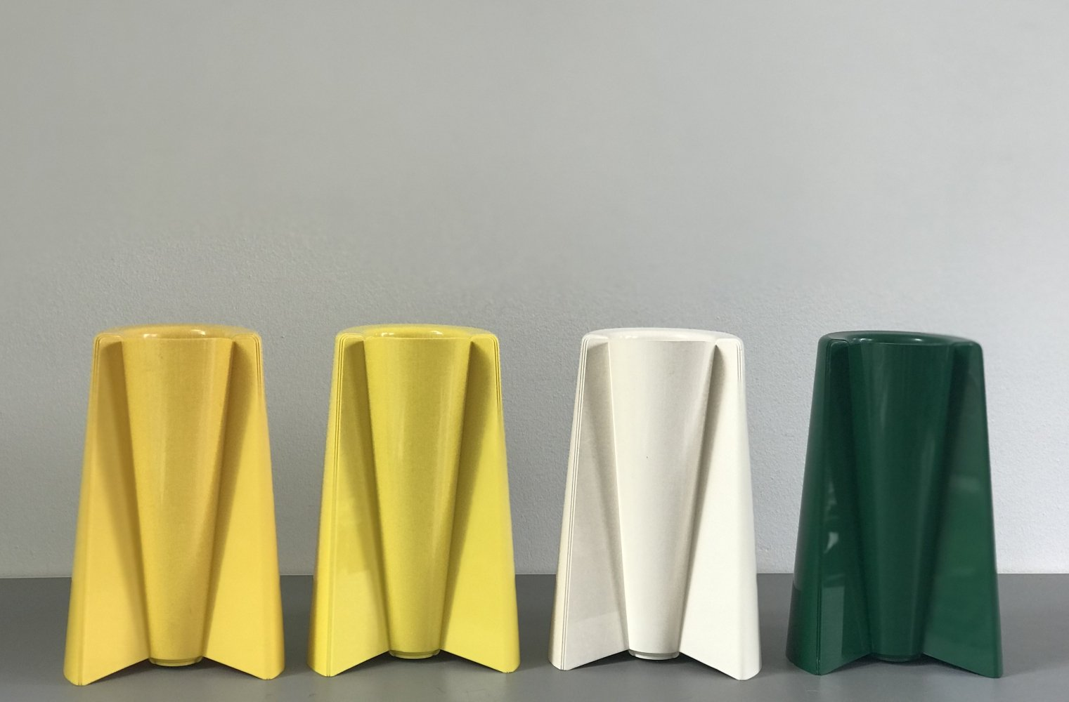 4 x Pago Pago vase by Enzo Mari for Danese, 1970s