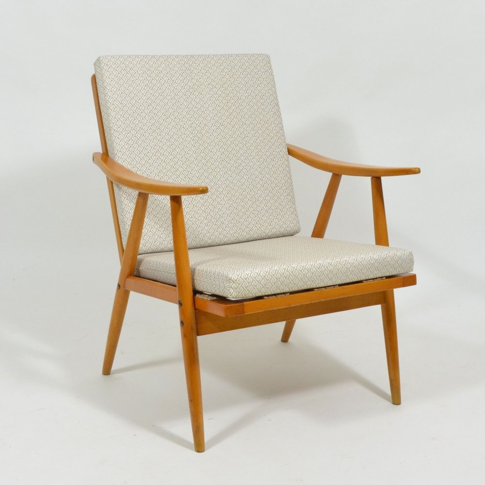 Ton armchair with removable cushion, 1960s