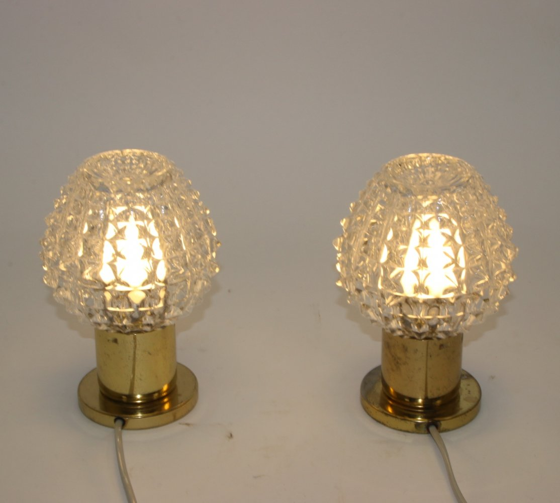 Set of vintage table lamps, 1970s