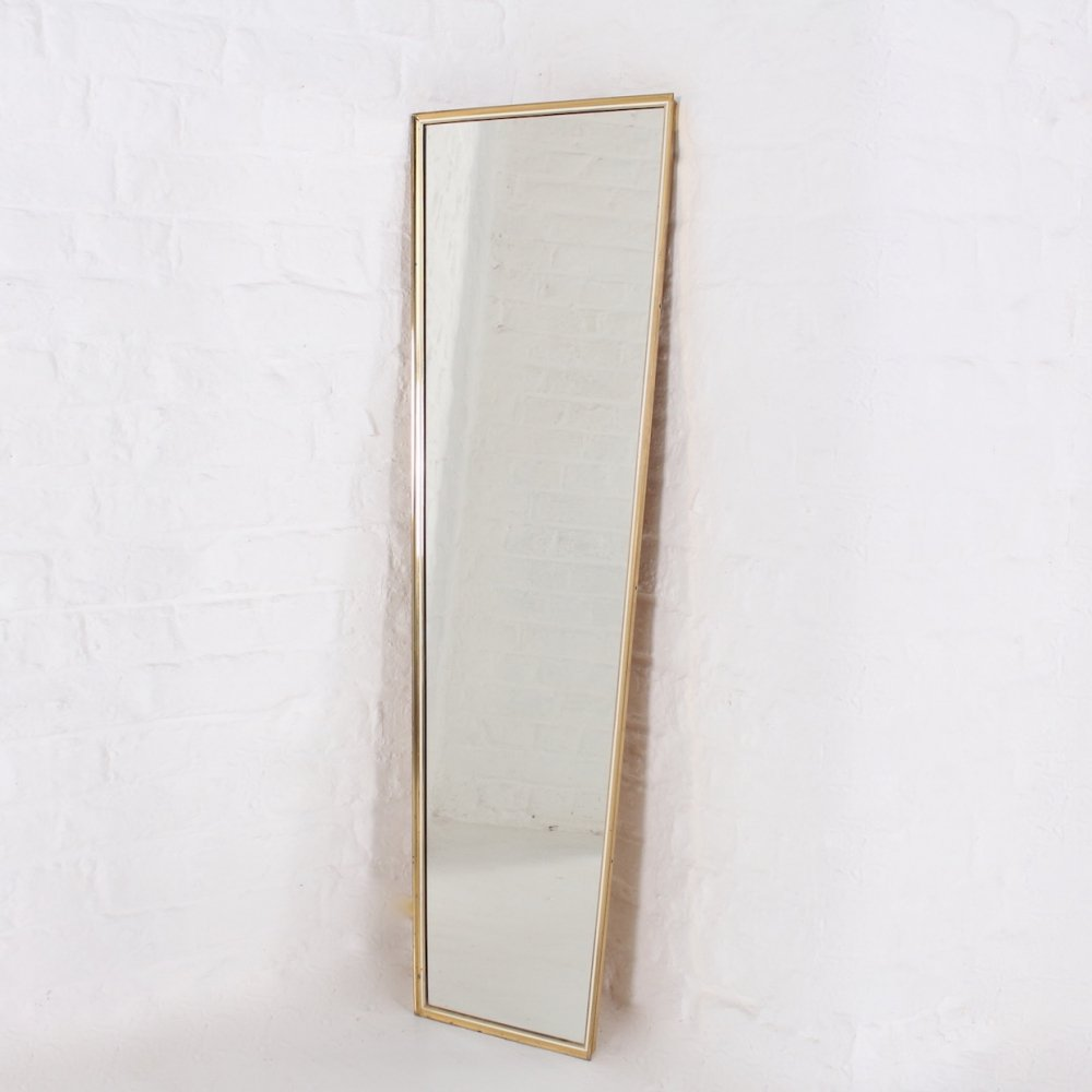 Solid brass wall mirror, 1960