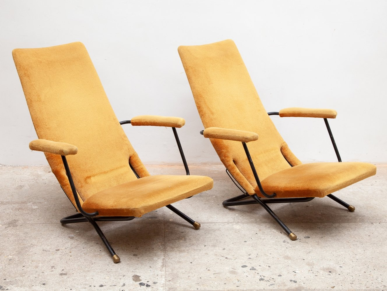 Set of Two Reclining Lounge / Easy Chairs, Germany 1950s