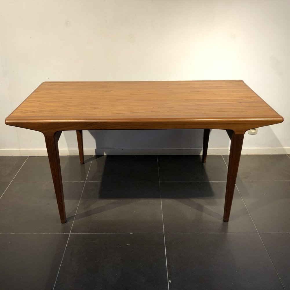Extendable Teak Scandinavian Dining Table, 1960s