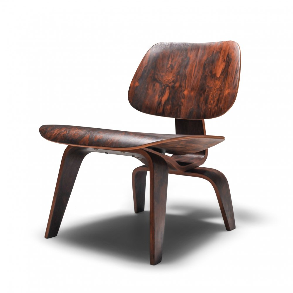 Eames Pre-Production LCW chair in Rio Rosewood, 1945