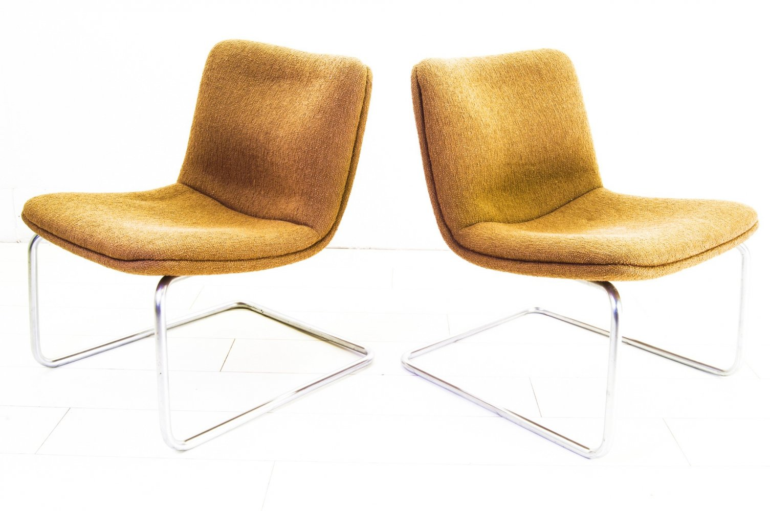 Pair of Gispen Cantilever Arcus Chairs, 1980s
