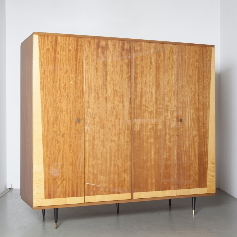 Wardrobe or Clothes Closet/Cabinet by RVD Belgium, 1950s