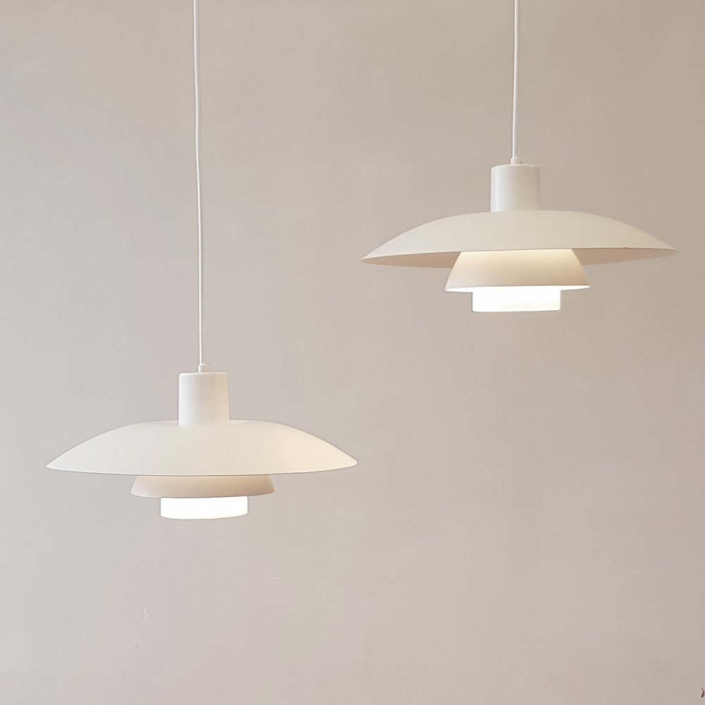 Set of 2 Poul Henningsen PH4/3 hanging lamps by Louis Poulsen, 1970s