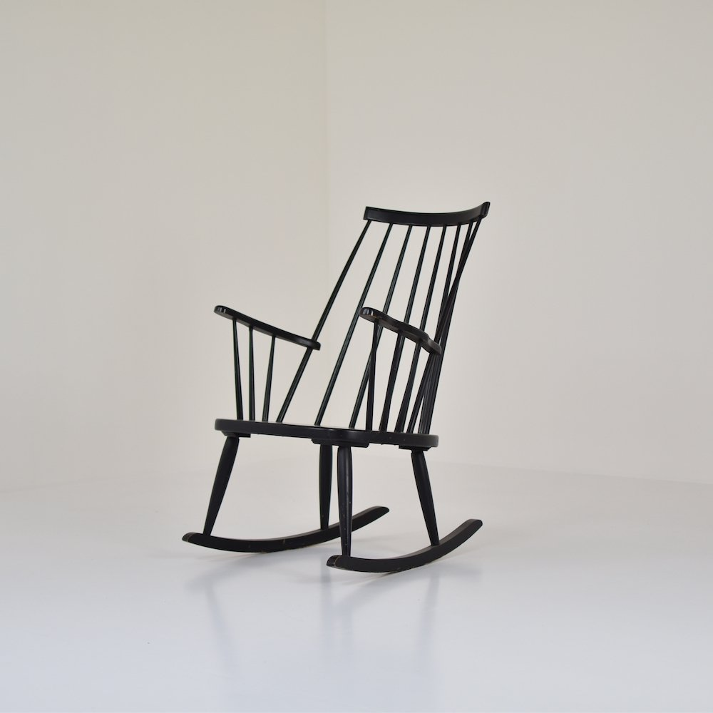Rocking chair by Lena Larsson for Nesto, Sweden 1960