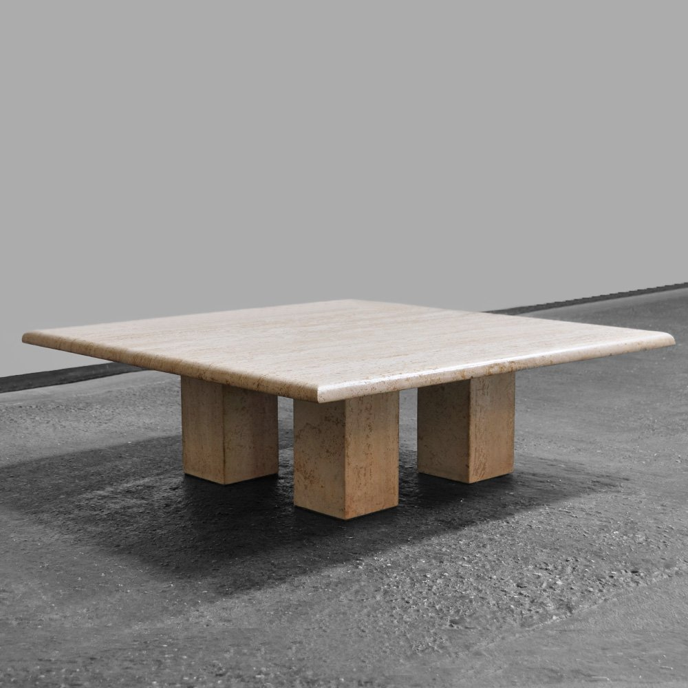 1970s Italian travertine coffee table