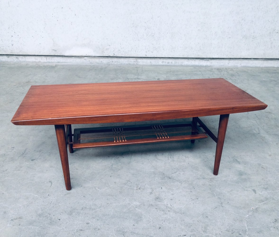 Midcentury Modern Dutch Design Wooden Coffee Table, 1960