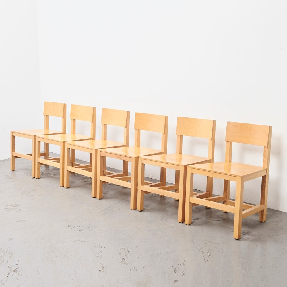 Atelier van Lieshout set of 6 Shaker Dining Chairs for Moooi, 1999