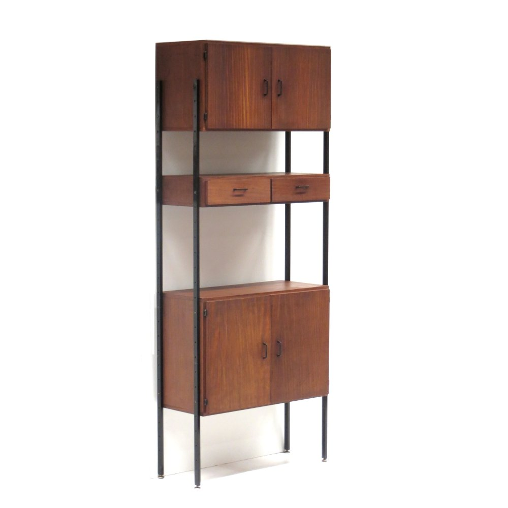 Standing vintage wall system / bookcase, 1960s
