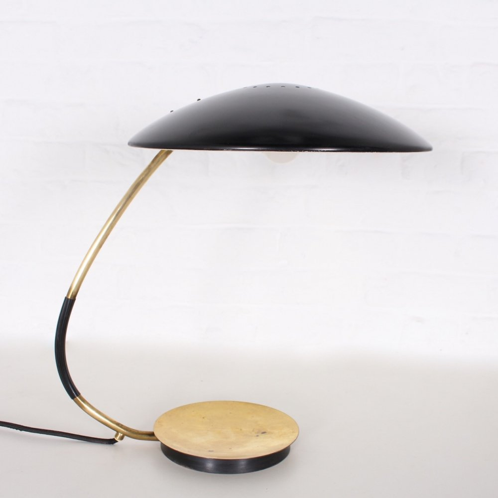 Solid brass adjustable desk lamp by Christian Dell, 1950