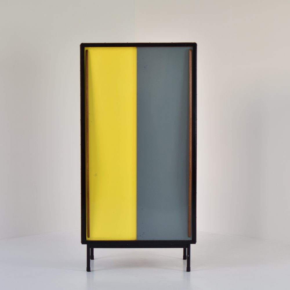 Rare two tone cabinet by Willy van der Meeren for Tubax, Belgium 1952