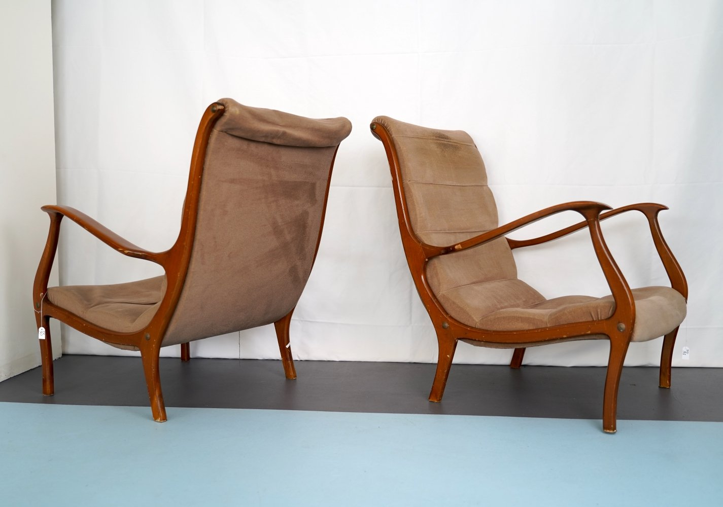Set of two armchairs by Ezio Longhi for Elam, Italy 1950s