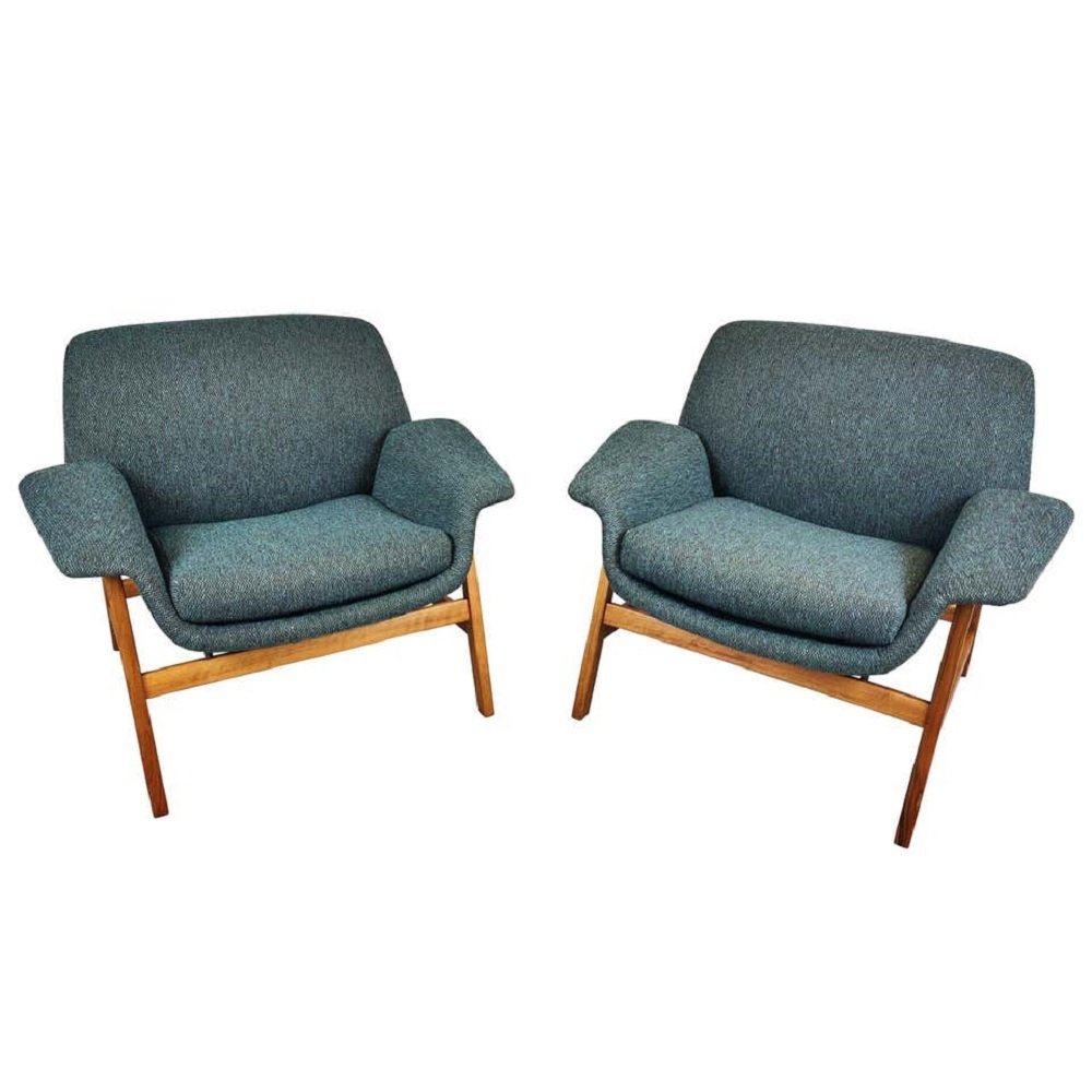 Pair of Armchairs by Gianfranco Frattini, Italy 1960s