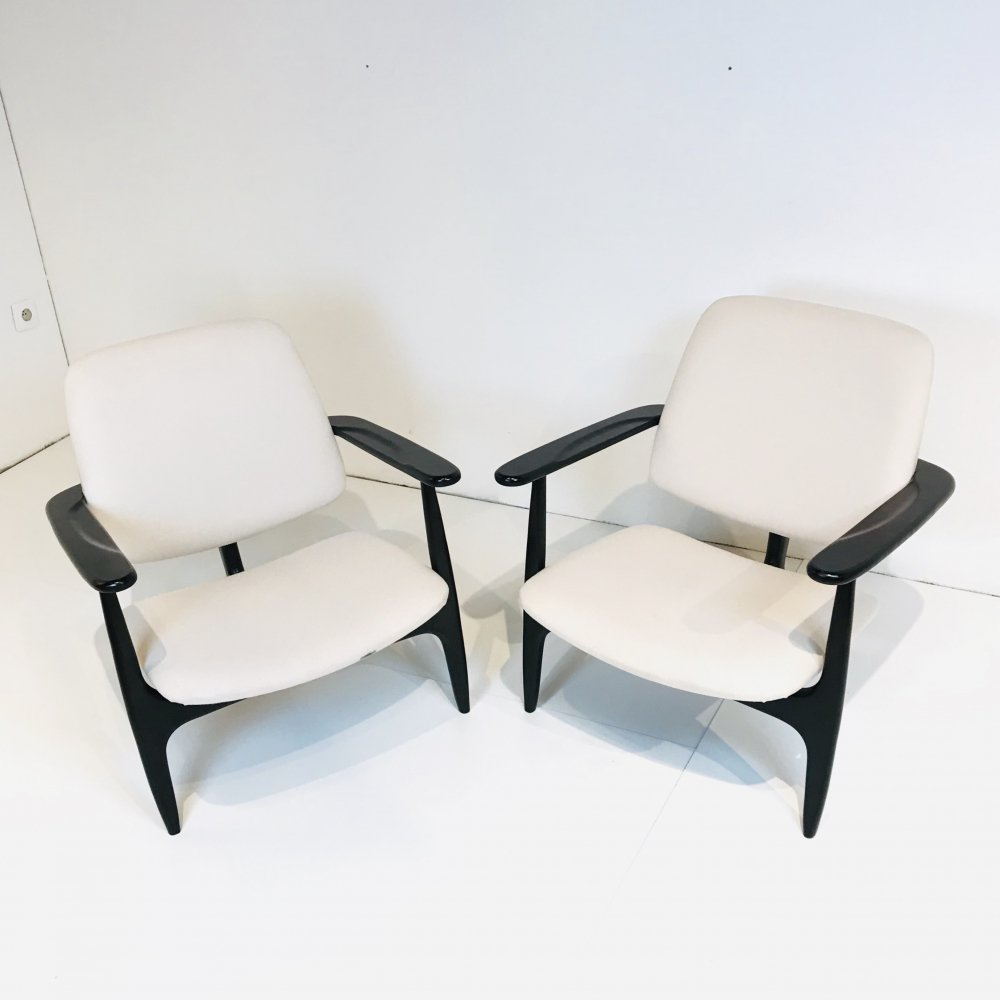 Pair of S3 Armchairs by Alfred Hendrickx for Belform, Brussels 1958