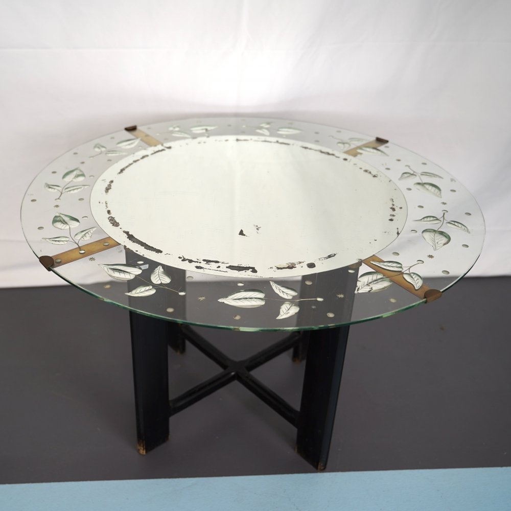 Italian Midcentury Coffee Table by Cristal Art