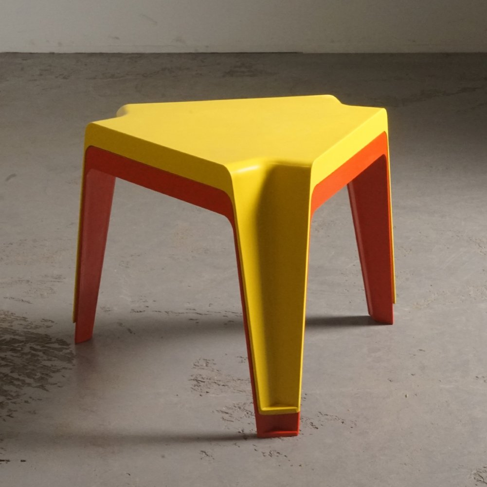 2 early plastics side tables by H. Batzner for Bofinger, 1960