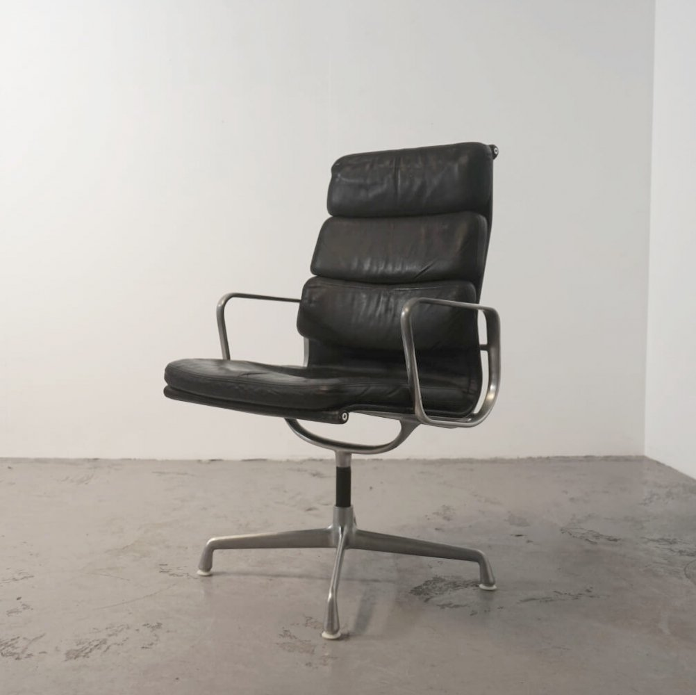 High back soft pad chair by Eames for Herman Miller, 1970s