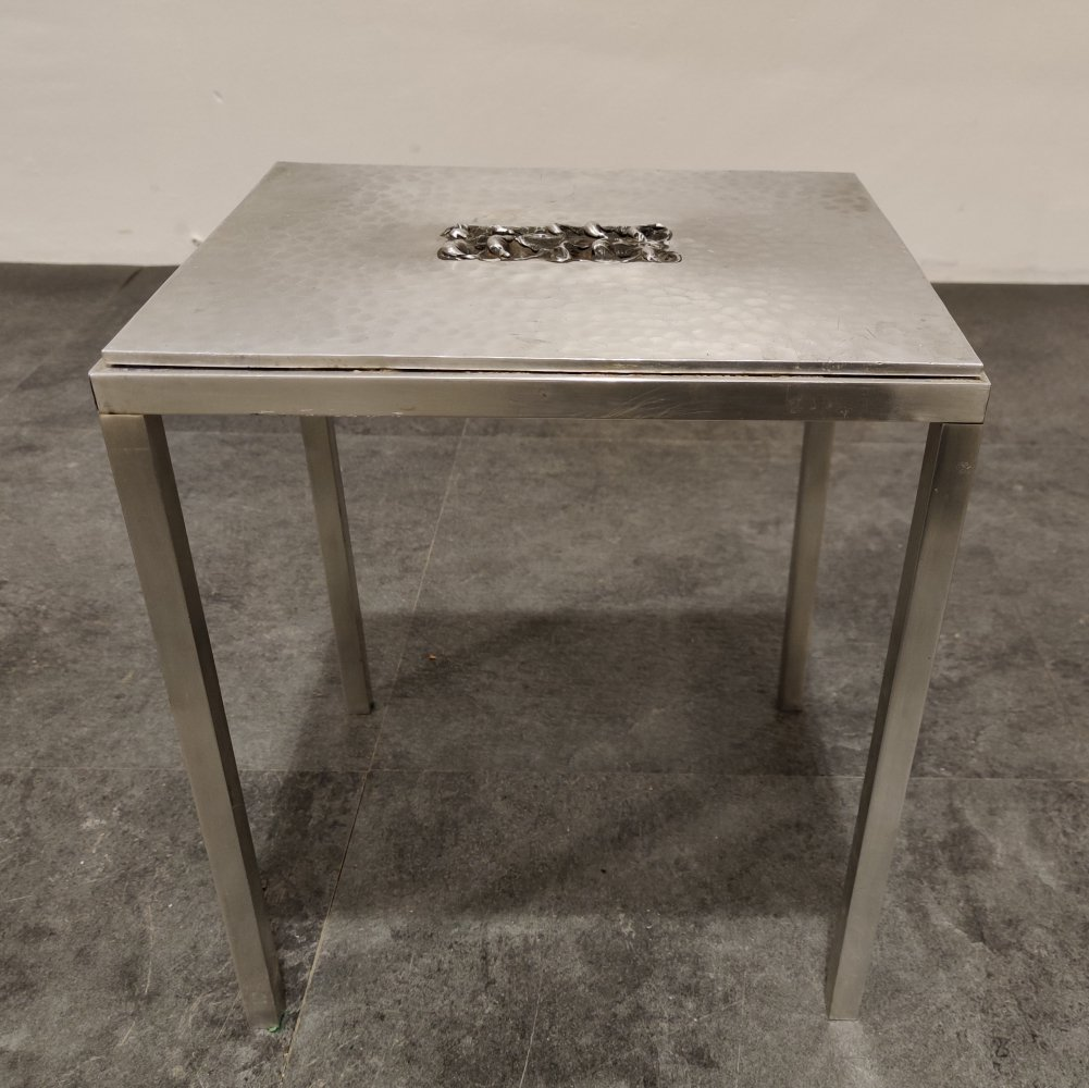 Vintage side table by Willy Luyckx for Aluclair, 1970s