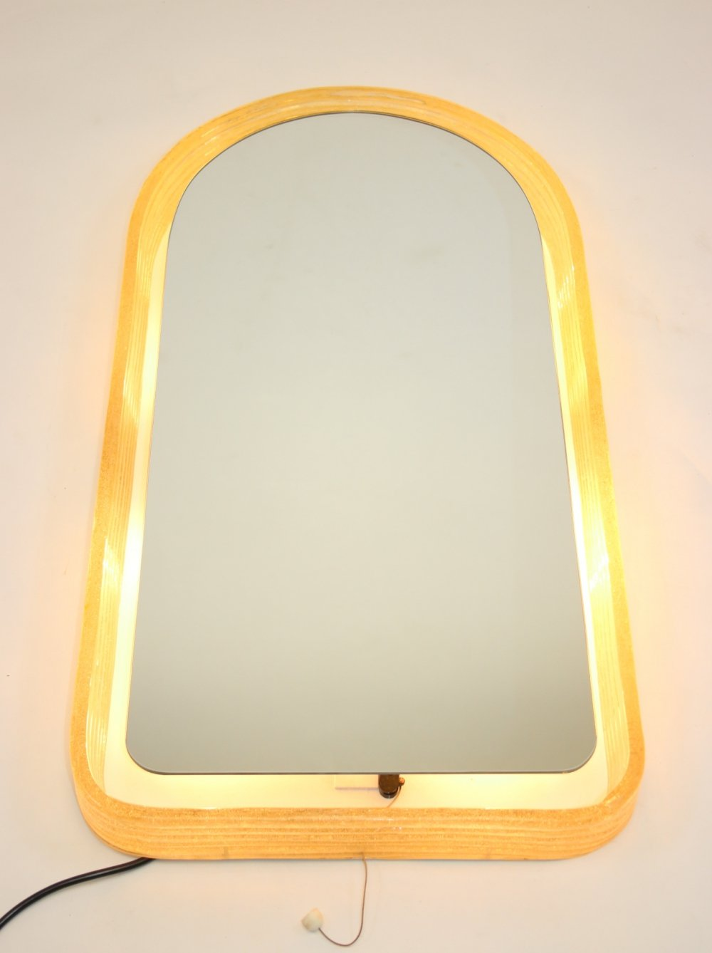 Large Illuminated Wall Mirror by Egon Hillebrand, 1970s