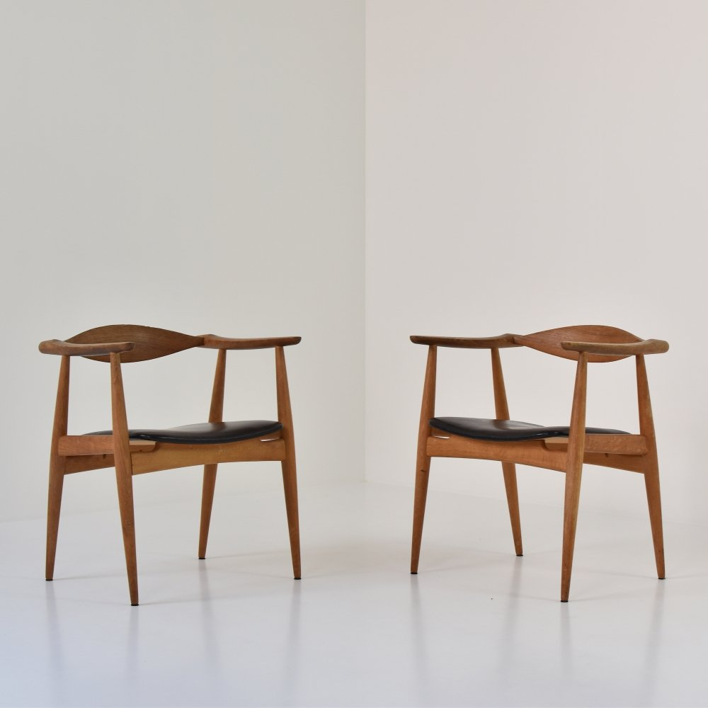 Rare set of CH35 chairs by Hans Wegner for Carl Hansen & Son, Denmark 1950