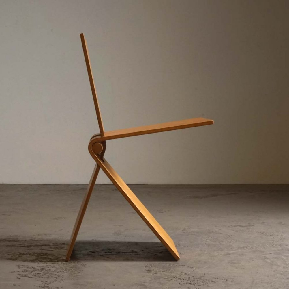 Rare minimal stick chair by Bruno Ninaber for Artifort, 1977