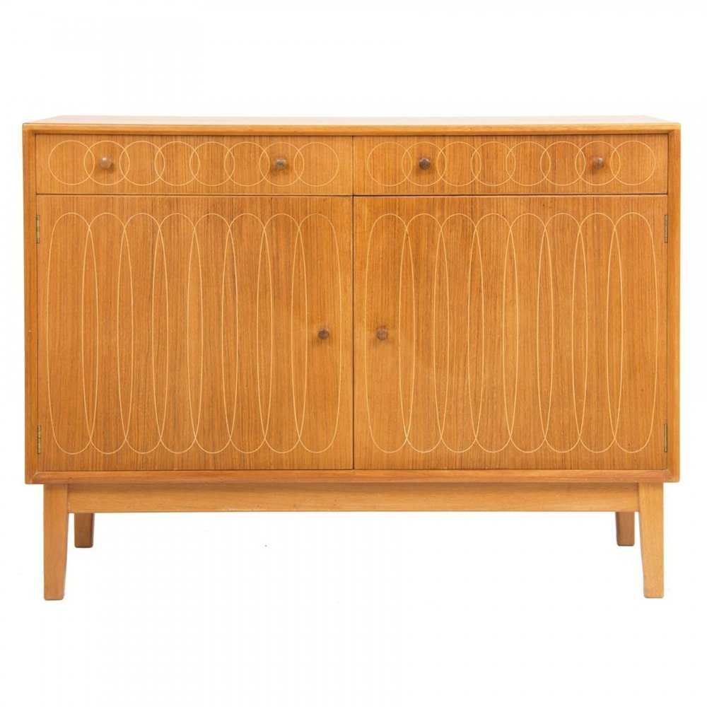 Mahogany & Indian Laurel Wood Sideboard by Gordon Russell, c.1953