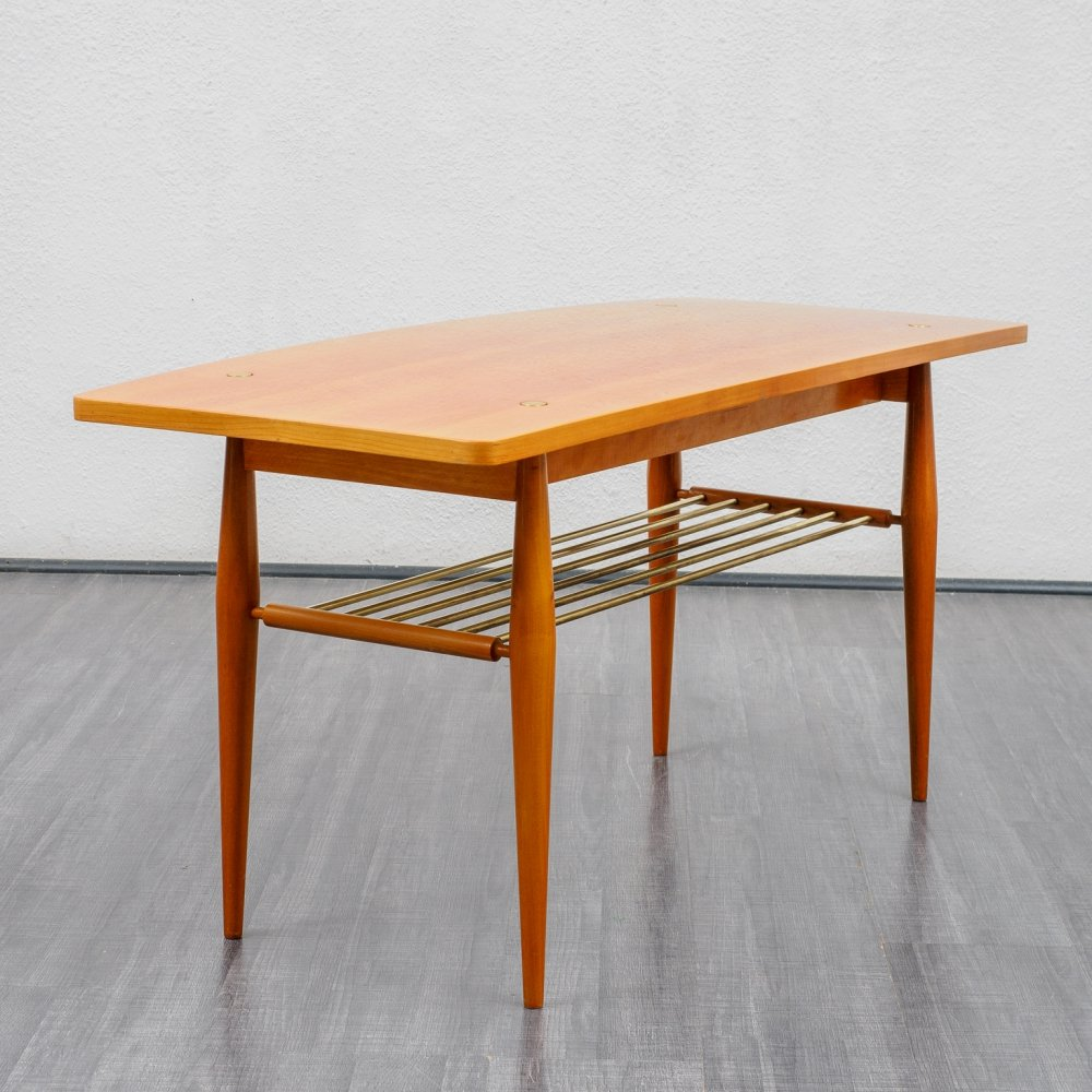 Mid Century cherrywood coffee table with reversible top, 1950s