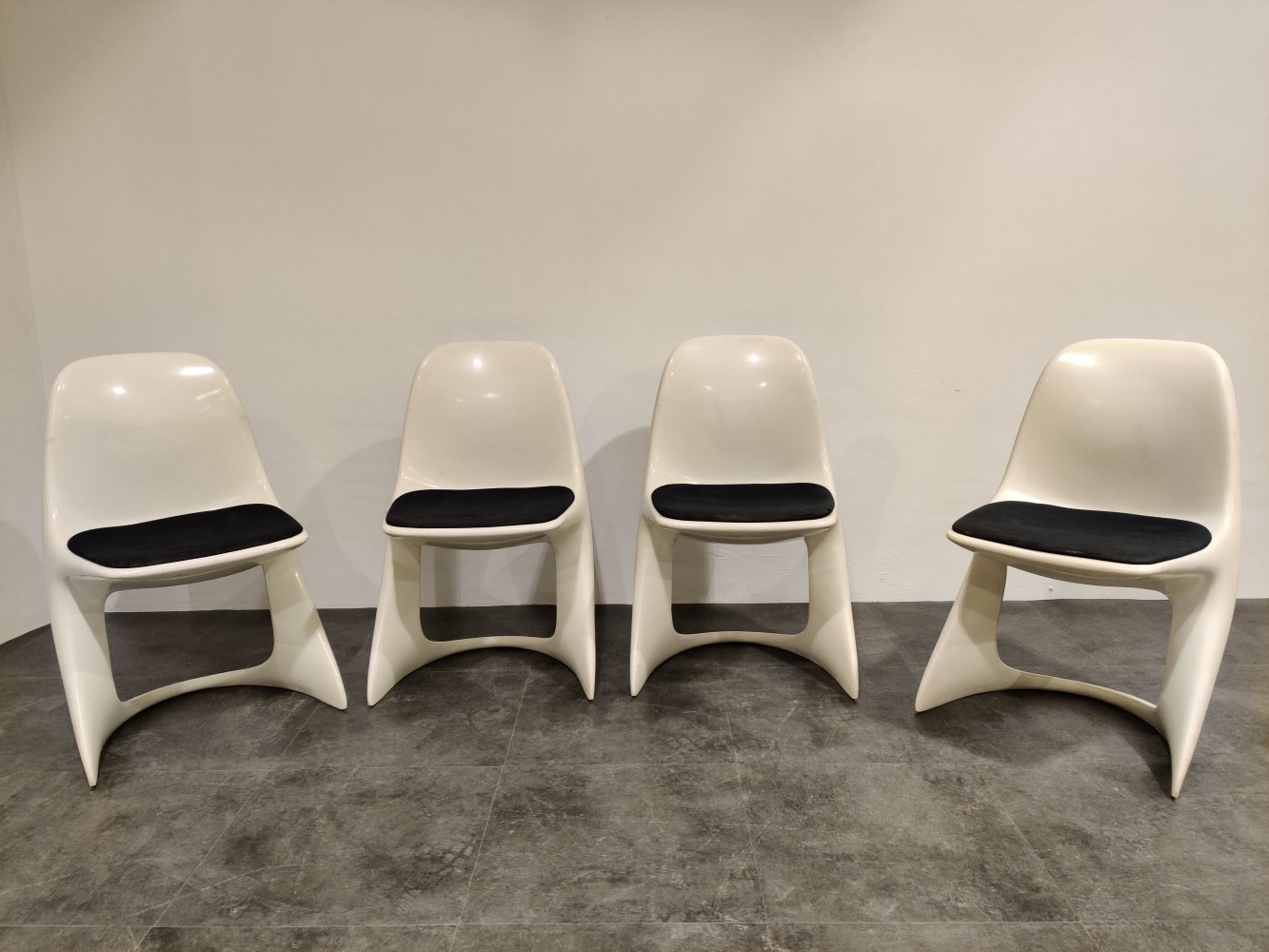Set of 4 Casalino dining chairs by Alexander Begge for Casala, 1970s