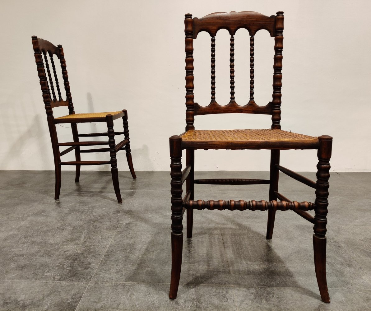 Pair of mahogany side chairs, 1920s